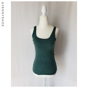 {topshop} heathered green fitted tank top